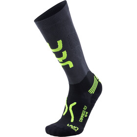 UYN Run Compression Fly Socken Herren anthracite/yellow fluo